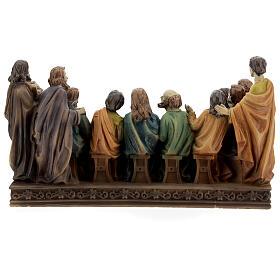 Última Cena Apóstoles estatua resina 15x25x10 cm s5