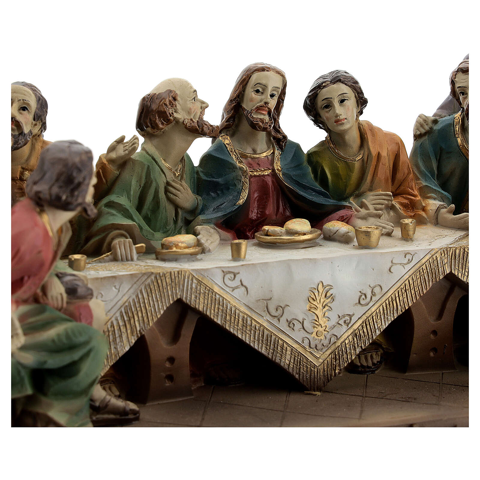 Ultima Cena Apostoli statua resina 15x25x10 cm 4