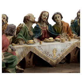 Ultima Cena Apostoli statua resina 15x25x10 cm s2