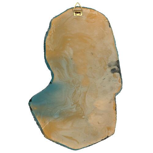 Rostro Virgen motivos dorados resina 30x15 cm 5