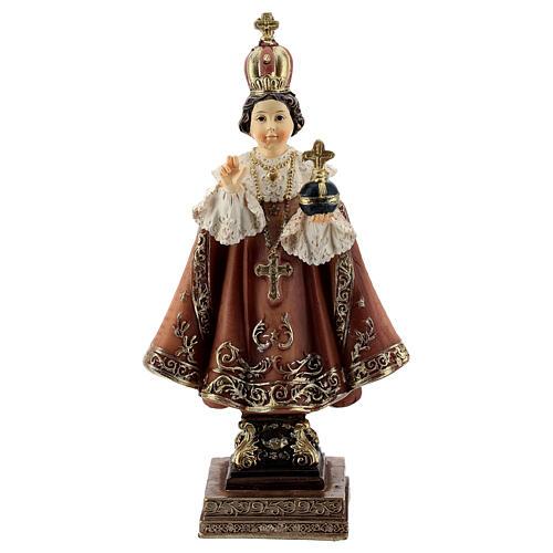 Menino Jesus de Praga base barroca imagem resina 11 cm 1