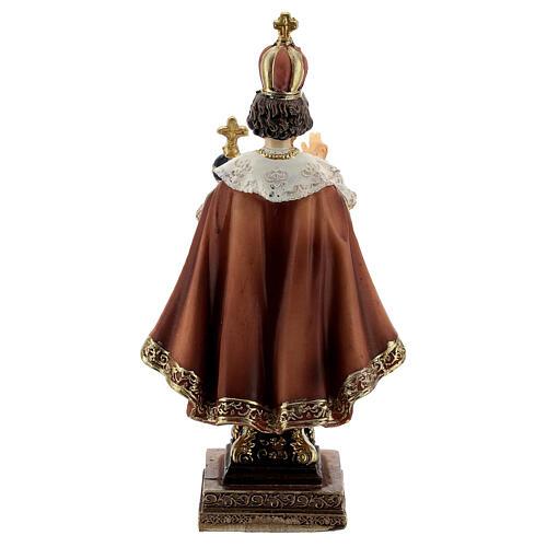 Infant of Prague statue Baroque base, 11 cm resin 4