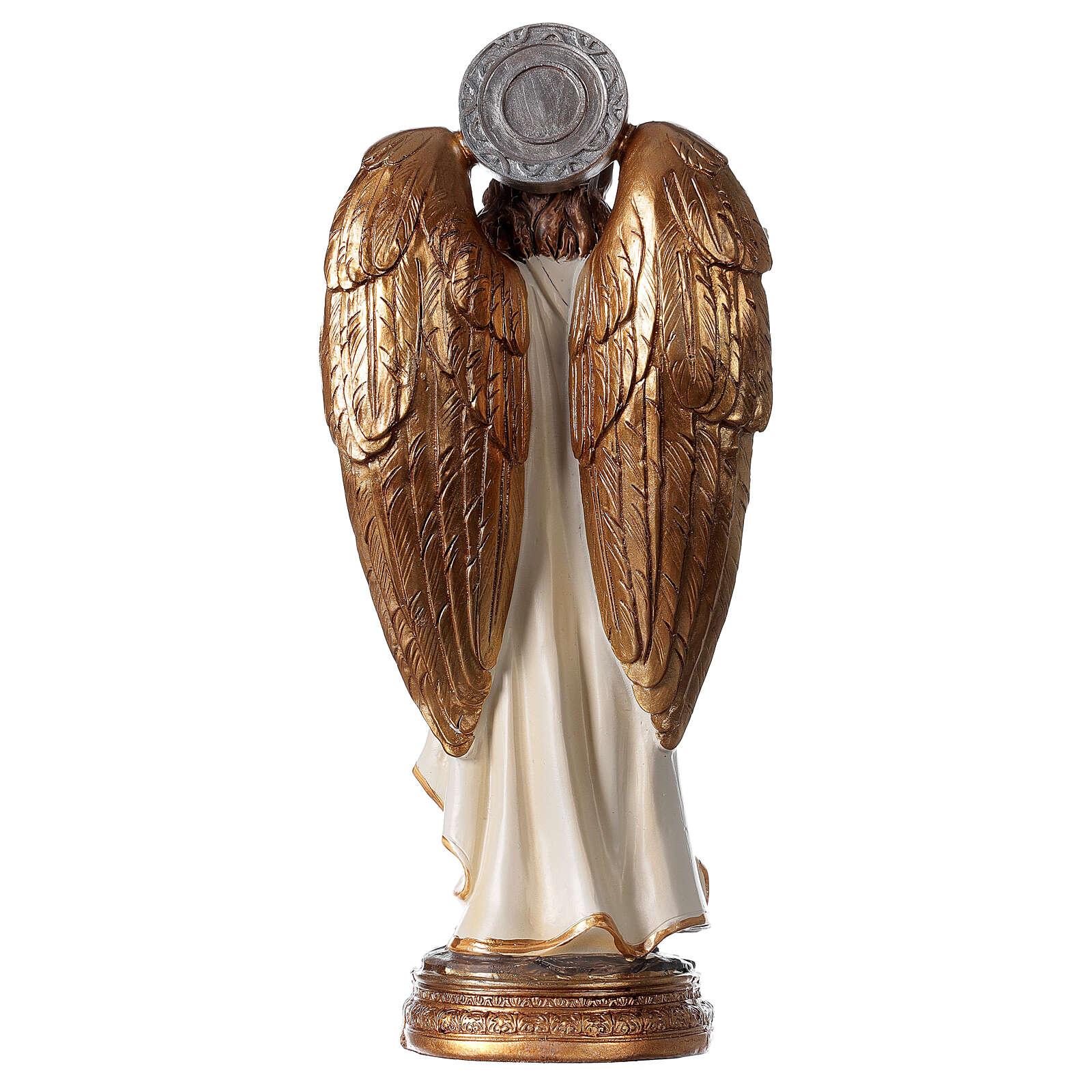 Statue Ange Gabriel lys parchemin 20 cm 4
