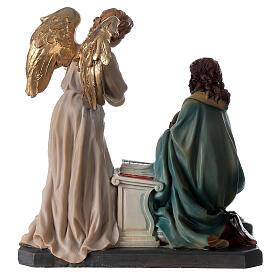 Statue Ange Gabriel lys parchemin 20 cm s8