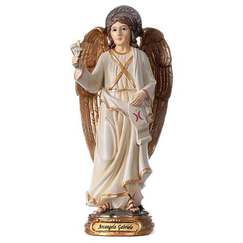 Statue Ange Gabriel lys parchemin 20 cm 1