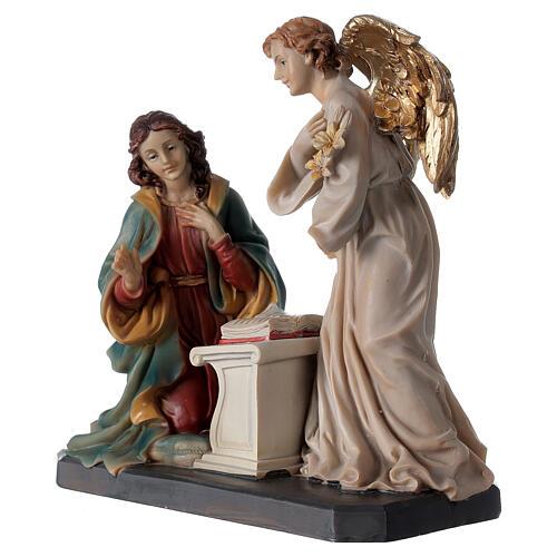 Statue Ange Gabriel lys parchemin 20 cm 6