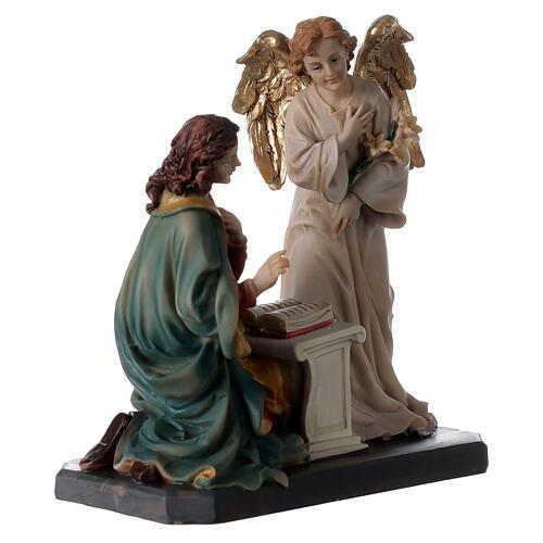 Statue Ange Gabriel lys parchemin 20 cm 7