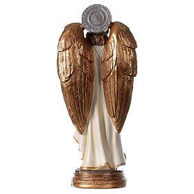 Statua Angelo Gabriele gigli pergamena 20 cm s4