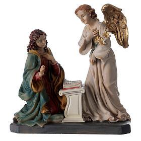 Statua Angelo Gabriele gigli pergamena 20 cm s5
