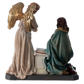 Statua Angelo Gabriele gigli pergamena 20 cm s8