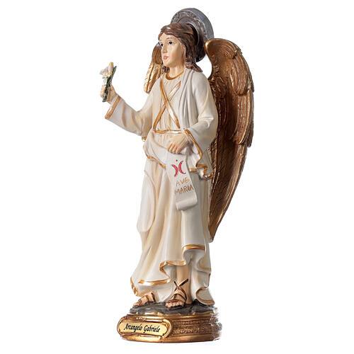 Statua Angelo Gabriele gigli pergamena 20 cm 2