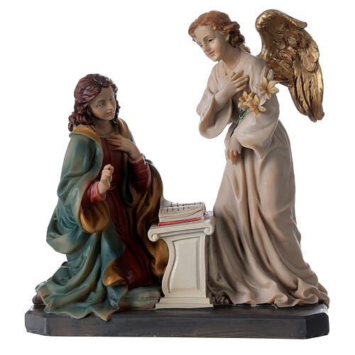Statua Angelo Gabriele gigli pergamena 20 cm 5