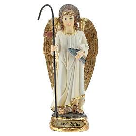 Saint Raphaël Archange poisson statue résine 12 cm s1