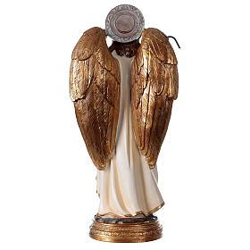 Archange Raphaël statue résine 29 cm poisson canne s4
