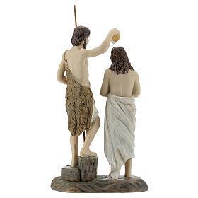 Statue Baptême Jésus Jean le Baptiste résine 13 cm s4