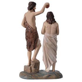 Baptême Jésus rivière Jourdain Baptiste résine 20x12x5 cm s4