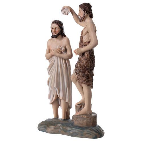 Baptême Jésus rivière Jourdain Baptiste résine 20x12x5 cm 2