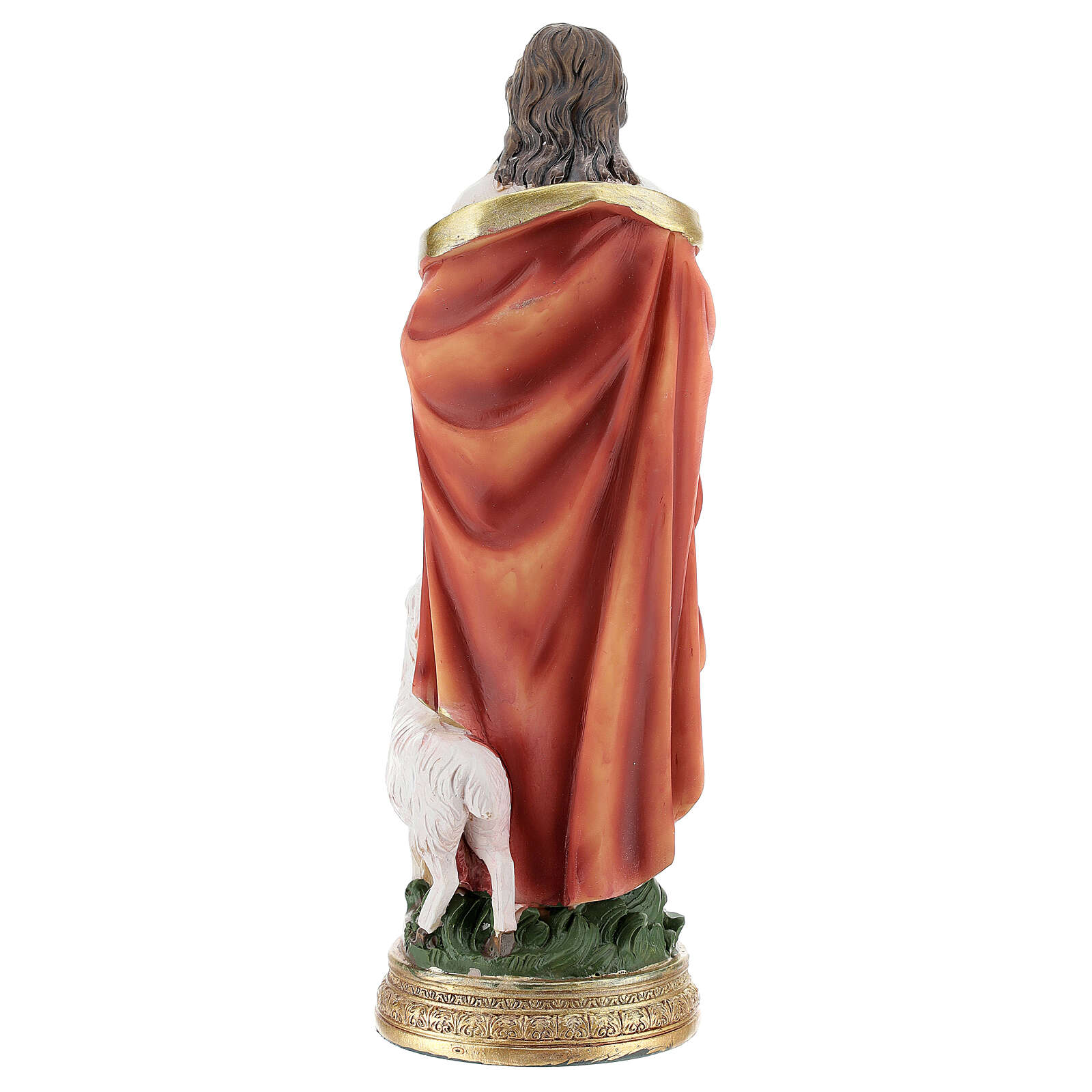 Statue Bon Pasteur Jésus moutons h 20 cm 4