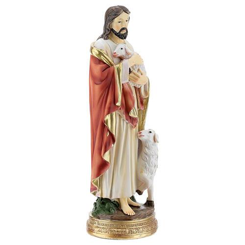 Statue Bon Pasteur Jésus moutons h 20 cm 3