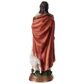 Bon Pasteur Jésus avec agneau statue résine 30 cm s4