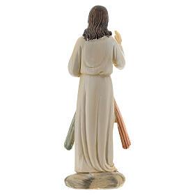 Statue Christ Miséricordieux deux rayons résine 12,5 cm s4