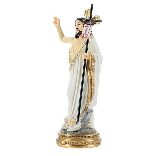 Christ Ressuscité canne drapeau 14 cm résine 2