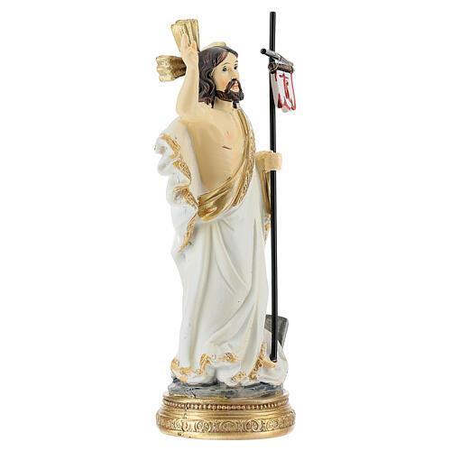 Christ Ressuscité canne drapeau 14 cm résine 3
