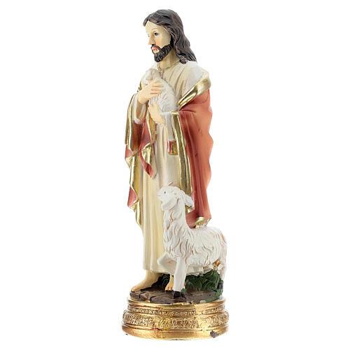 Jésus Bon Pasteur 12 cm statue résine 2