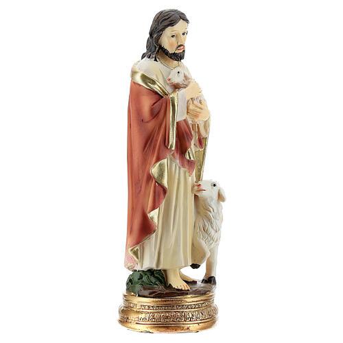 Jésus Bon Pasteur 12 cm statue résine 3