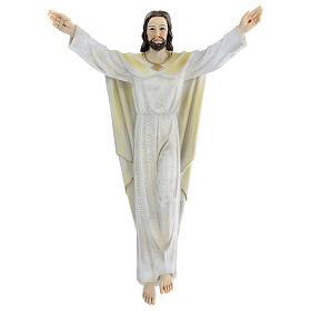 Gesù Risorto 30 cm statua resina dipinta da appendere s1