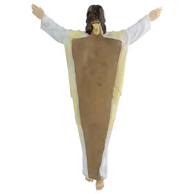 Gesù Risorto 30 cm statua resina dipinta da appendere s3