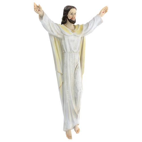 Gesù Risorto 30 cm statua resina dipinta da appendere 2