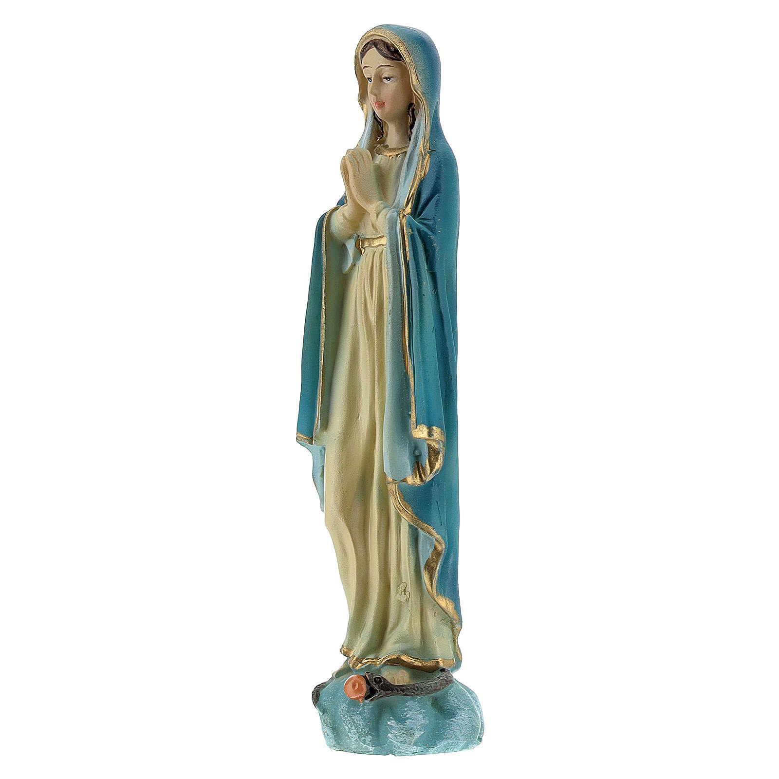 Immaculée Conception 12 cm mains jointes statue résine peinte 4