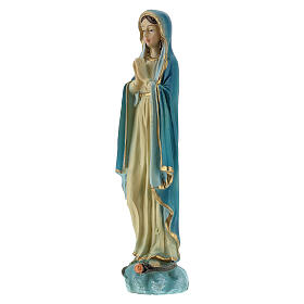 Immaculée Conception 12 cm mains jointes statue résine peinte s2