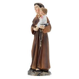 Statue Saint Antoine avec Enfant résine peinte 9 cm s2
