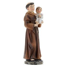 Statue Saint Antoine avec Enfant résine peinte 9 cm s3