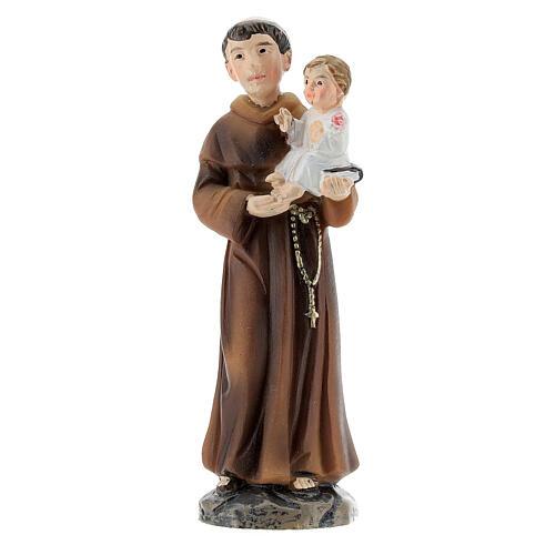 Statue Saint Antoine avec Enfant résine peinte 9 cm 1