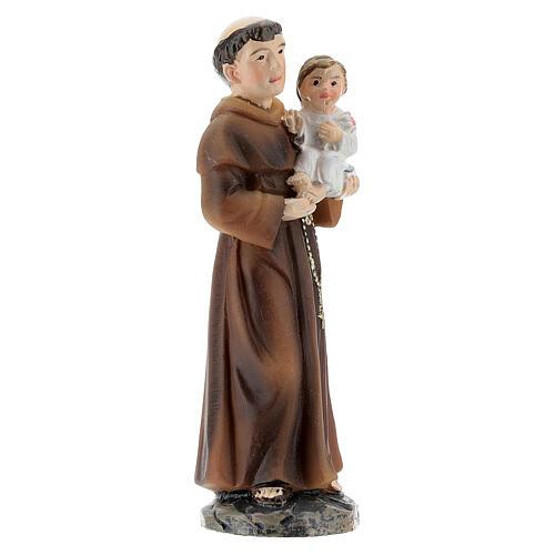 Statue Saint Antoine avec Enfant résine peinte 9 cm 3