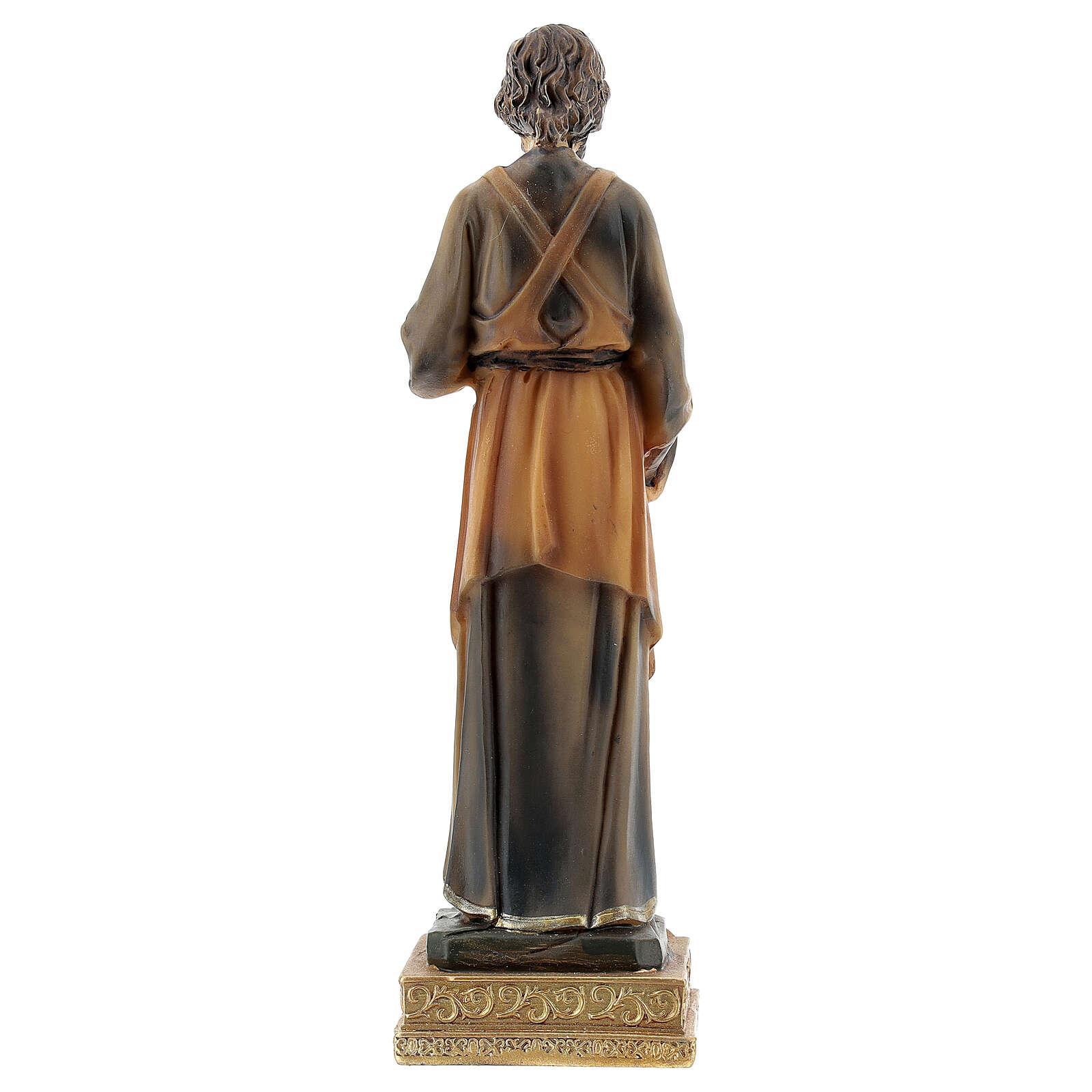 Statue Saint Joseph menuisier résine peinte 15 cm 4