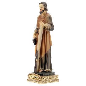 Statue Saint Joseph menuisier résine peinte 15 cm s2