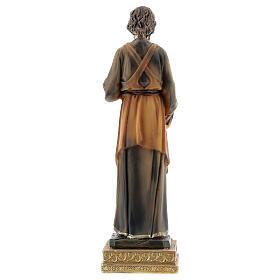 Statue Saint Joseph menuisier résine peinte 15 cm s4