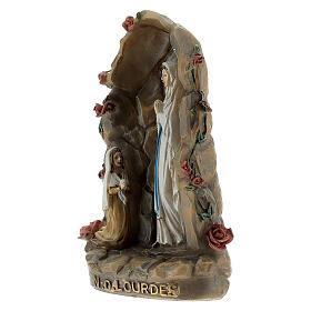 Notre-Dame de Lourdes grotte résine peinte 10 cm s2