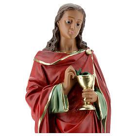 St John the Evangelist statue, in plaster 30 cm Barsanti s2