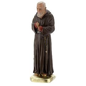 Padre Pío 20 cm estatua yeso coloreada a mano Barsanti s3