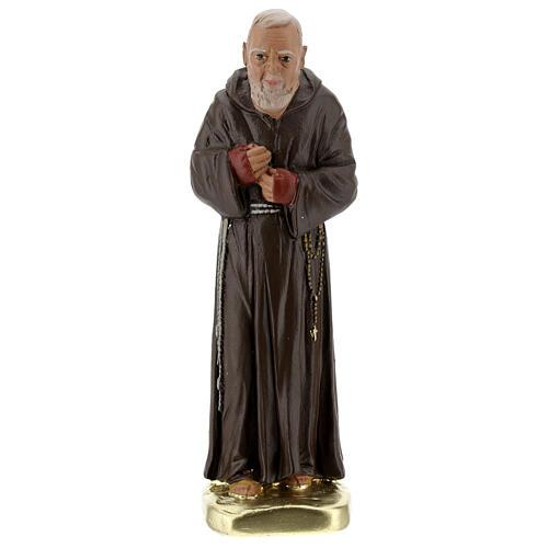 Padre Pío 20 cm estatua yeso coloreada a mano Barsanti 1