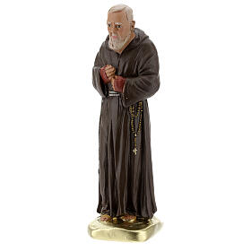Padre Pio 20 cm statue plâtre coloré main Barsanti s3