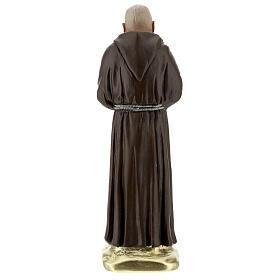 Padre Pio 20 cm statue plâtre coloré main Barsanti s5