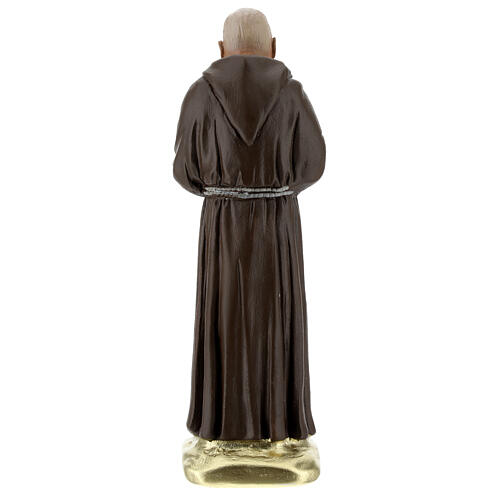 Padre Pio 20 cm statue plâtre coloré main Barsanti 5