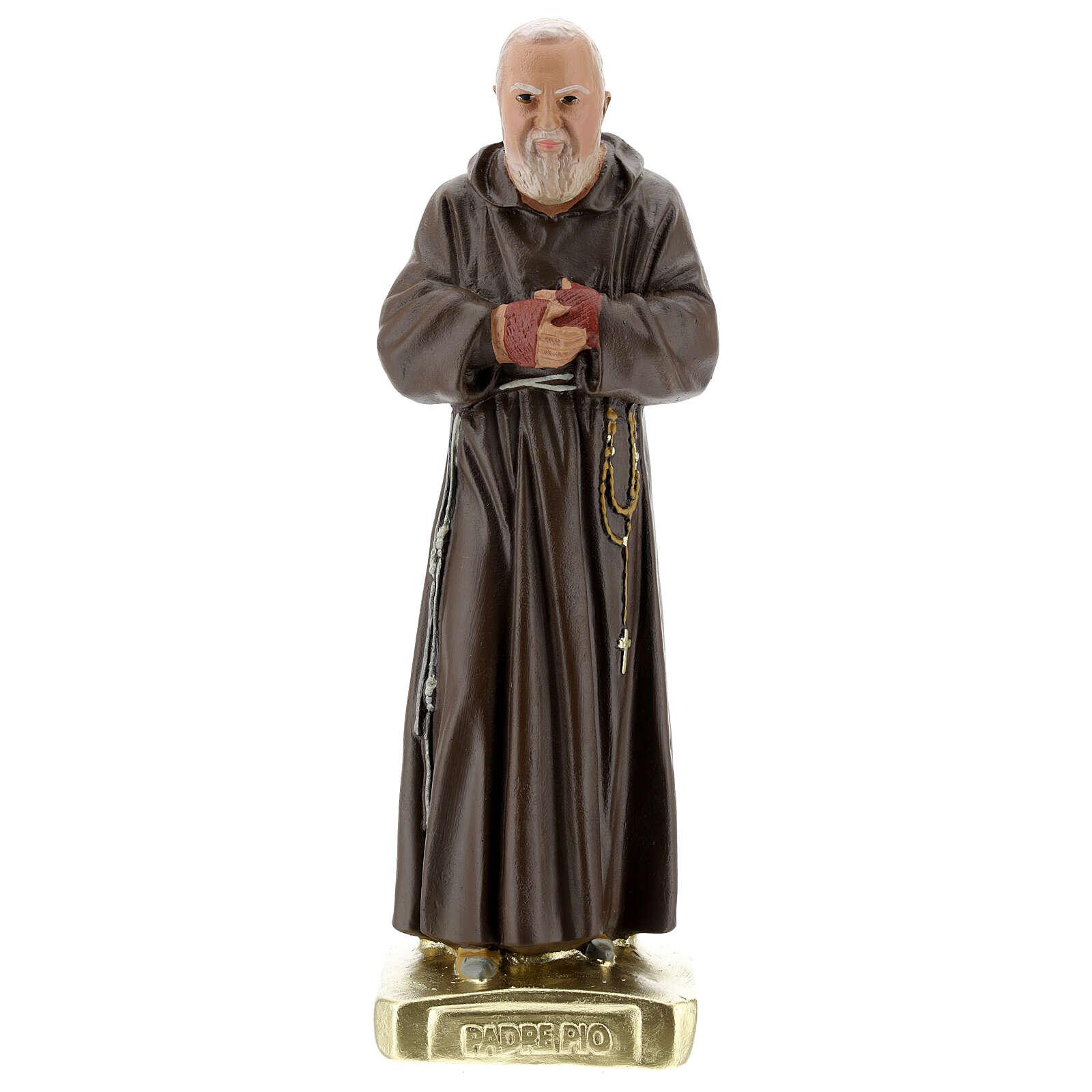 Padre Pio 30 cm hand-colored plaster statue Arte Barsanti 4