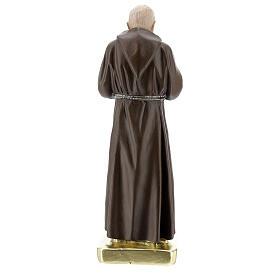 Saint Pio 30 cm statue plâtre coloré main Barsanti s4
